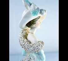 Lady In Turquoise - Vintage Victorian Figurine by © Sophie W. Smith