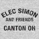 Elec Simon & Friends - Canton OH in Black Letters by Benjamin Lehman