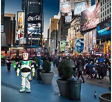 Buzz Lightyear on Times Square by Michel Godts