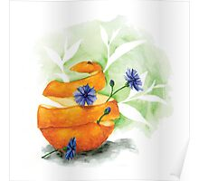 Earl Grey (with blue cornflower and orange peel) Poster