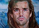 Mel Gibson in Brave heart by Hidemi Tada