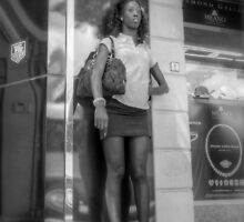 Waiting for the Bus in Downtown Nassau, The Bahamas by 242Digital