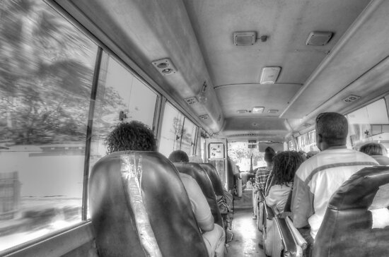 From inside the Bus # 11 in Nassau, The Bahamas by 242Digital