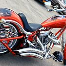 Red & Chrome Chopper by Mikell Herrick