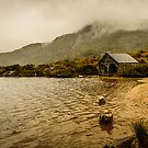 Dove Lake boat shed. by traveller