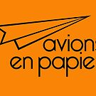 Paper Planes Orange Cards &amp; Prints by M  Bianchi