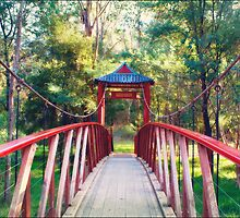Chinese Bridge, Wandiligong by Linda Lees