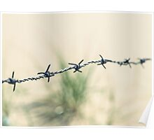 Walking through barbed wire Poster