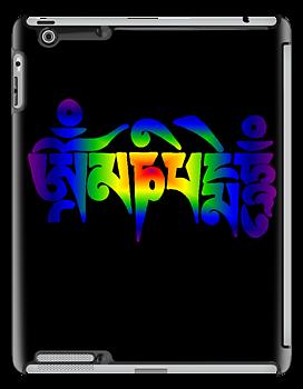Om Mani Padme Hum - Rainbow by neonblade