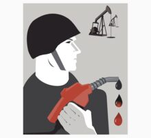 A Drop of Blood for a Drop of Oil Anti War Political T-shirt  by AllRiot-tshirts