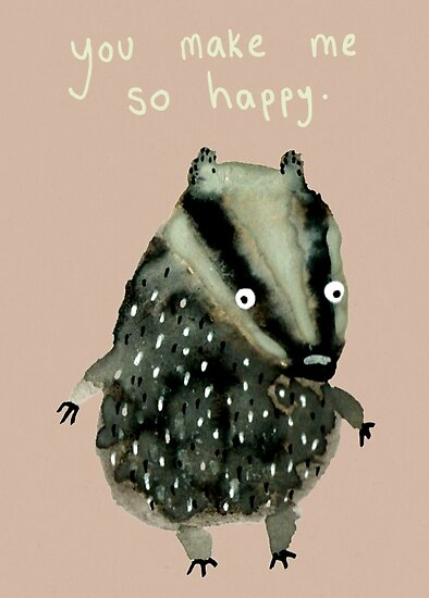 Happy Badger by Sophie Corrigan