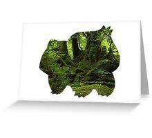 Bulbasaur Silhouette Greeting Card