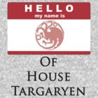 Hello My Name Is ... of House Targaryen by ScottW93