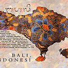 Map Of Bali In Batik  by TortugaDesigns