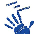 Arrested Development Blue Hand Print iPad Case by gerbilgeorge