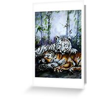 Tigers! Mother and Child Greeting Card