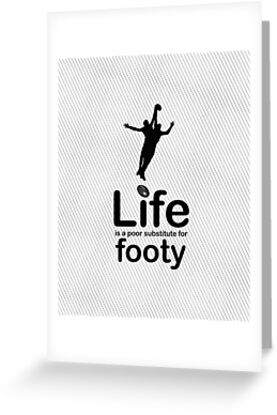 AFL v Life - Black Graphic by Ron Marton