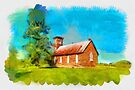 The old church - watercolour by PhotosByHealy