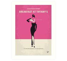 No204 My Breakfast at Tiffanys minimal movie poster Art Print