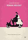 No205 My Roman Holiday minimal movie poster by Chungkong