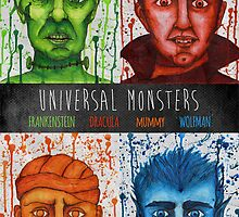 Universal Monsters Poster by shaylyngordon
