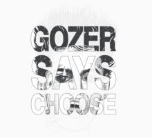 Gozer Says Choose (Black and Grey Version) by PootanInamo