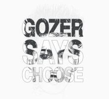 Gozer Says Choose (Black and Grey Version) by PootanInamo
