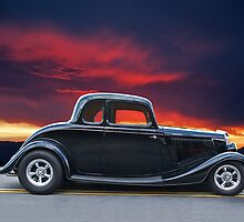 1934 Ford Coupe in Profile by DaveKoontz