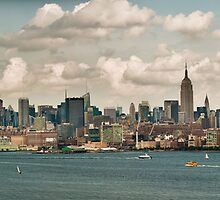 Panorama of manhattan skyline in new york city by Prashant Agrawal