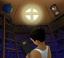 Library - John 5:39 by Alejandro Cuadra