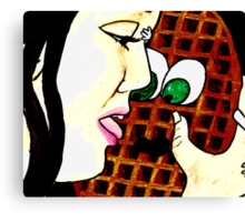 OH WAFFLE! experiment version Canvas Print