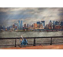 City - Hoboken, NJ - Fishing - The good life  Photographic Print