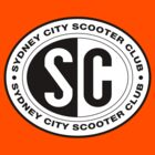 Sydney city scooter club logo T-Shirts by chalkyscoot