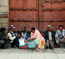 People 4128  La Paz Bolivia by Mart Delvalle