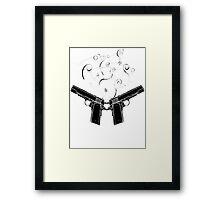 double gun Framed Print