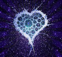 'Daisy Heart Night Sky - Blue' by STUDIO 88 TARANAKI NZ