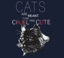 Cats are meant to be cruel and cute Kids Clothes