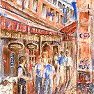 Restaurant Alley by Kathie Nichols