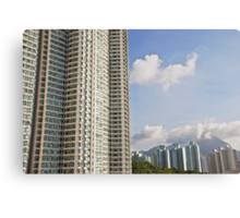 Hong Kong living - apartment blocks and nature side by side Canvas Print