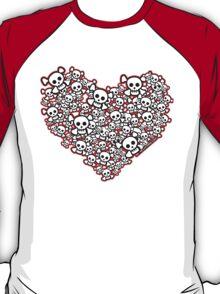Emo Skull Hearts T-Shirt
