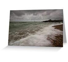 Gloomy morning on Eastbourne Seafront Greeting Card