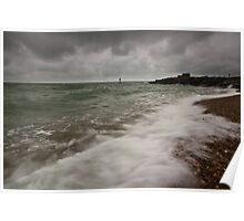 Gloomy morning on Eastbourne Seafront Poster