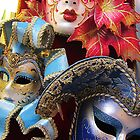 Colourful masks, Rome, Italy by buttonpresser