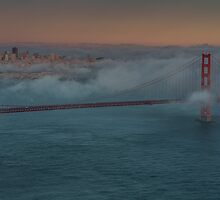 San Francisco in Clouds by Richard Thelen