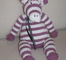 Pink Zebra Foal by Dionne Meade