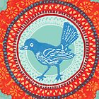 Doily Bird by Drawstring