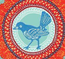 Doily Bird by Drawstring