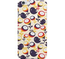 Retro birds with love. iPhone Case/Skin