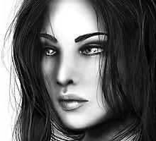 Random Portrait II by DeeMo247