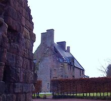Rosslyn Castle, Midlothian, Scotland.  by LBMcNicoll